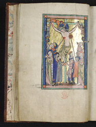 The Crucifixion, in the Huth Psalter